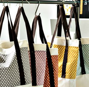 Coudre un tote bag en coton colore 1