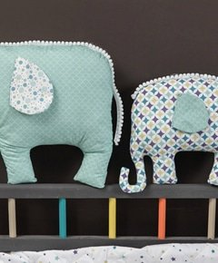 Tutorial slider top coudre un doudou elephant main