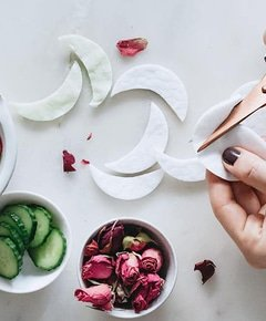 Cucumber rose eye mask