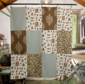 Original michelle reynolds patchwork quilt lead h