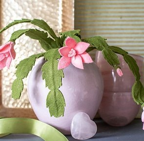 Felt pink cactus 2