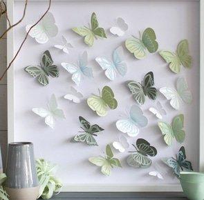 Paper butterfly art 1