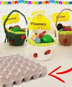 Craft from egg carton party for kids