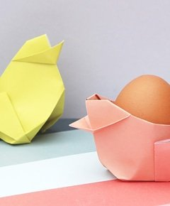 Learn how to fold these origami chick baskets in time for easter  easter  origami  easterorigami  easterchick  easterbasket  eastercrafts  gatheringbeauty