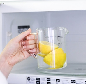 Clean microwave with lemon 1 1 2