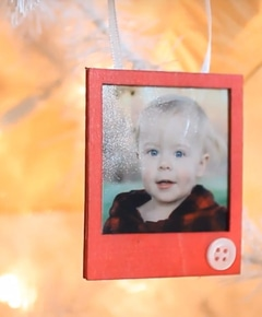 Diy dyed wood photo ornament   rosyscription   goo