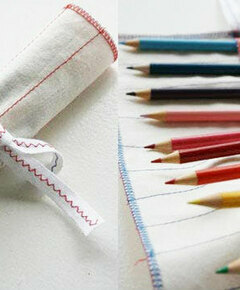 Rolled up pencil roll