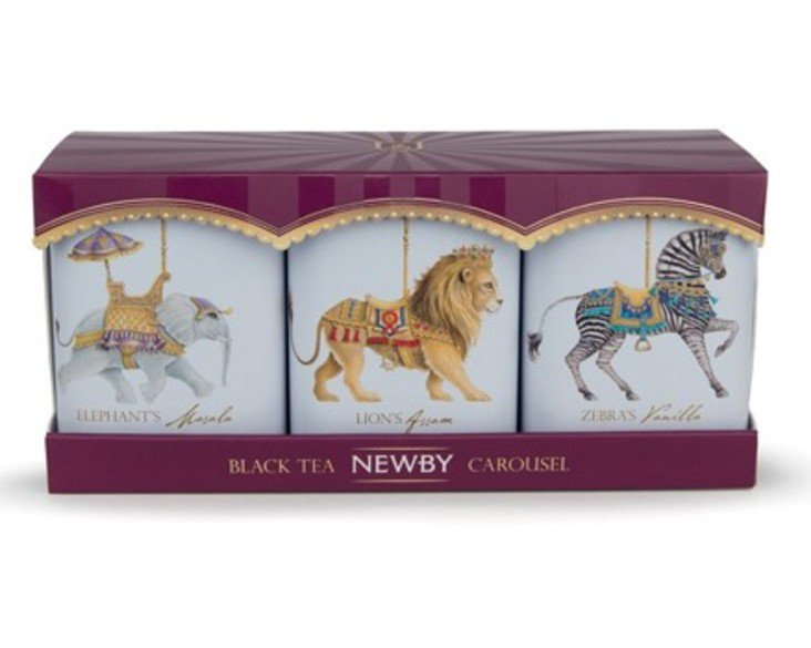 438 350 carousel black teas set