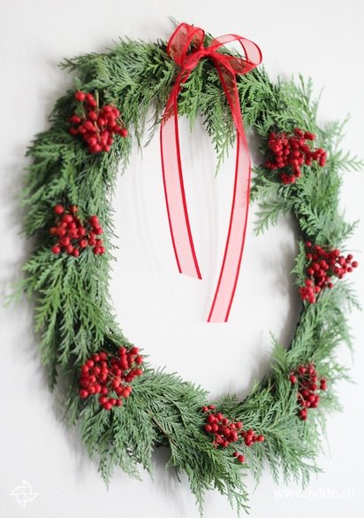 Diy berry wreath 14