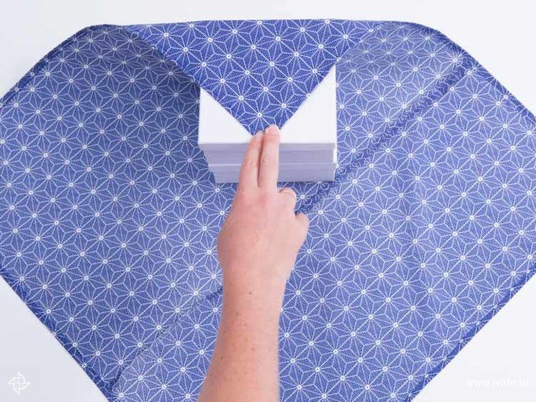 Faire un emballage cadeau suivant la technique du furoshiki 18