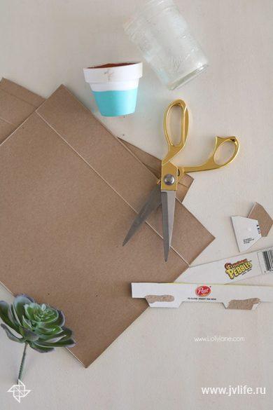 Cereal box succulent planter craft tutorial diy
