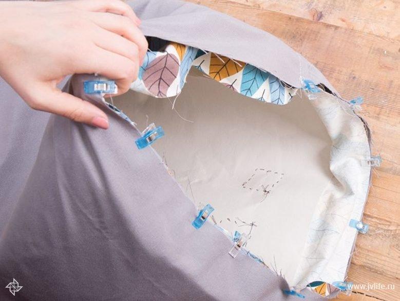 Coudre un grand panier de rangement pour la chambre d enfant 09