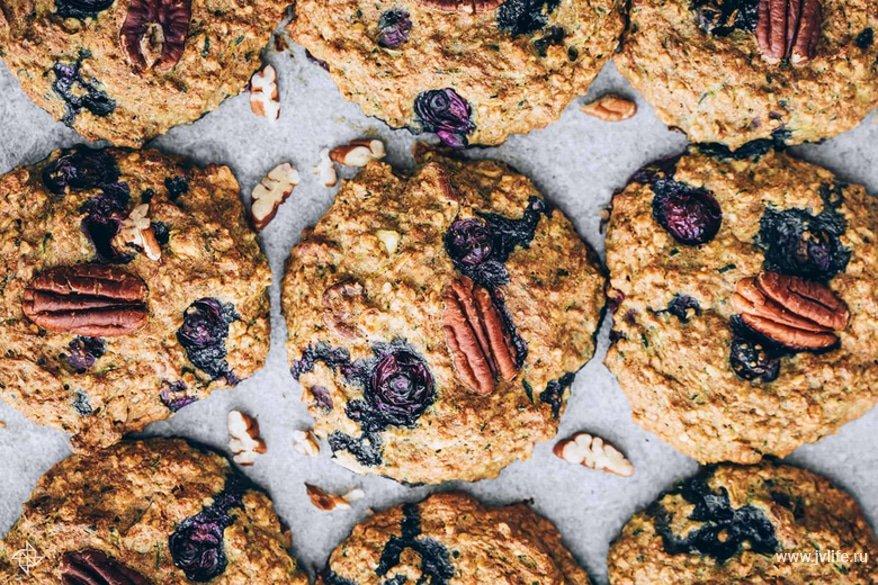Blueberry zucchini cookies 2
