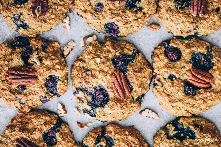 Blueberry zucchini cookies 2