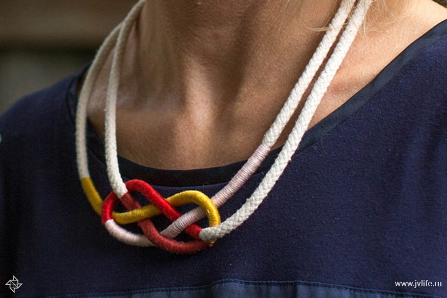 Colorful macrame knot necklace 4