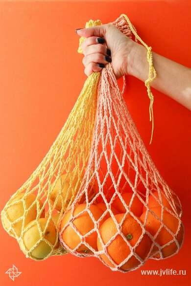 Crochet produce bag finished 1